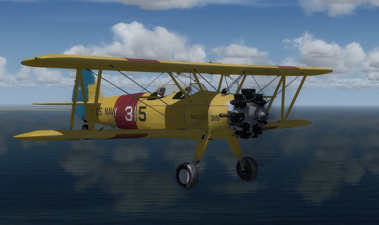 Stearman PT/N2S for FSX, FSX SE, P3D
